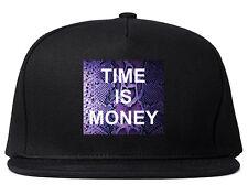 Kings Of NY Time Is Money Printed Snapback Hat Cash Snakeskin