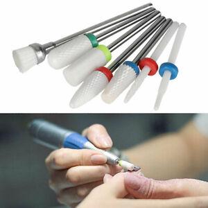 7 Pcs Nail Drill Bits Set Electric File Manicure Pedicure Nail Art Tools Ceramic