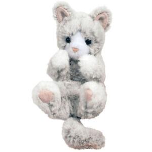 NEW Douglas Cuddle Toy Kitten Cat Cute Grey Kitty Plush Kids Gift (Age 2 years+)