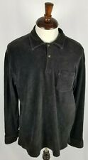 Polo Ralph Lauren Mens Corduroy Long Sleeve Polo Casual Shirt Large Strech Brown