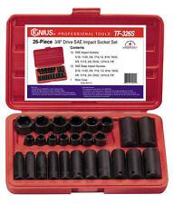 "Genius Tools 26 Piece 3/8"" Dr. SAE Deep Impact Socket Set - TF-326S"
