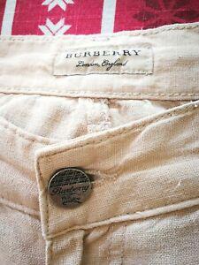 "HERRENHOSE Burberry   ""ART Leinenhose"" 34/30 beige"