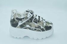 scarpa donna buffalo pelle camouflage  firmate shoes lacci stringhe zeppa