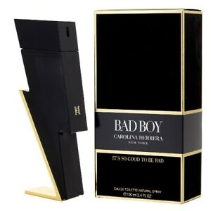 Bad Boy by Carolina Herrera 3.4 oz EDT Cologne for Men New In Box