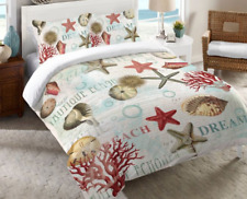 Laural Home® Dream Beach Shells Twin Comforter in Red