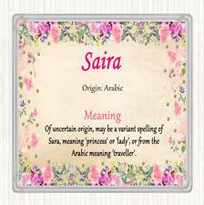 Sara nom signifiant jumbo aimant de réfrigérateur rose