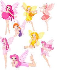 Fairy Bedroom wall , window, toy box stickers Girls Princess vinyl decals