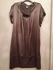 Women Dress Armani Collezioni, champagne colour, silk, size T46/ UK 14-16/ XL