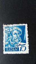 FRANCE 1947 OCCUPATION ALLEMAGNE BADE timbre 11 BALDUNG GRIEN oblitéré, VF STAMP