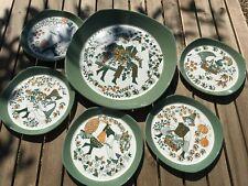 Figgjo Flint, Turi Gramstad Oliver 'Sicilio' Platter and 5 Plates, Scandanvian