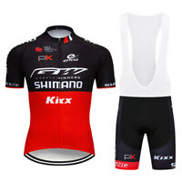 Men's Red Black Cycling Jersey Bib Shorts Kits Short Sleeve Shirt Pad shorts Set