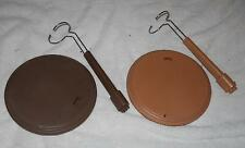 1/6 Scale Large base Brown and Tan Action Figure or Doll stand LOT of 2