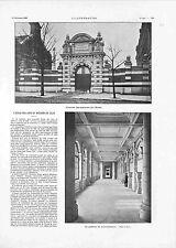 Façade Ecole des arts et métiers à Lille Atelier Usine Galerie  GRAVURE 1900