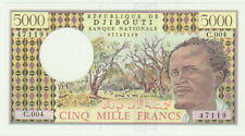 """Djibouti,5000 Francs Banknote,ND (1979)Choice Uncirculated,P#38-D""""African Man"""""""