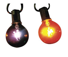 10 G40 Orange/Purple Transparent Halloween Light Set Indoor/Outdoor use