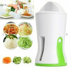2 X PALMARE verdure SPIRALE SLICER CUTTER Chopper Spiralizer Briciolo Twister UK