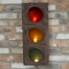 Vintage Industrial Metal Wall Home Traffic Light Pillar Tea Light Candle Holder