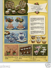 1960 PAPER AD Sphinx China Chintz Porcelain Scandinavian Royal Fayance Ovenware
