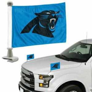 Carolina Panthers NFL / Auto Car Vehicle Ambassador Trunk Hood Flags / Set of 2