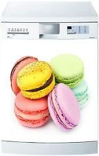Sticker lave vaisselle déco cuisine électroménager Macarons 700 60x60cm