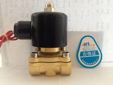 "12V DC 3/4"" Electric Solenoid Valve Water Air N/C 2W"