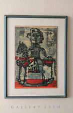 EPIC! MID CENTURY ANTONI CLAVE LITHOGRAPH! 50S ABSTRACT ART VTG PICASSO PAINTING