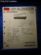 Sony Service Manual CDP XE220 /XE320 CD Player  (#4075)