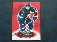 2016-17 Fleer Showcase Red Glow #96 Blake Wheeler Winnipeg Jets
