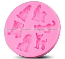 Silicone Dog Fondant Cake Chocolate Mold Mould Baking Tool For Baby Shower Party