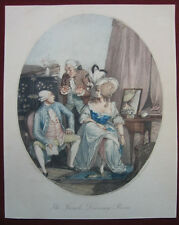 Punktierstich V P.W. Tomkins: Dressing 1790/Engraving French dressing-Room