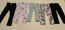 Girls Size 3 Leggings X5. Disney. Minnie Mouse. Cotton On. Glitter. H&M