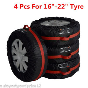 "4x Car Truck Seasonal Spare Tyre 16""-22"" Tire Protection Storage Bags Carry Tote"