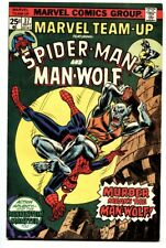 Marvel Team-up #37 Spider-Man vs. Man Wolf comic book - Vf/Nm