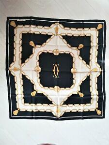 Foulard ancien en soie Must de Cartier