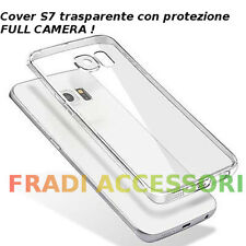 Cover case custodia Samsung Galaxy S7 TPU ultra slim silicone trasparente camera