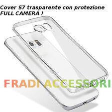 Cover case custodia Samsung Galaxy S7 TPU ultra slim silicone trasparente camera