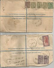 India    1935 (3 Annas + 1 Anna)    1951 Kuchera (4 + 2)   Registered Letter x 2