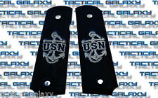 1911 TWO-TONE black USN anchor U.S. NAVY fits mid and full colt S&W para kimber