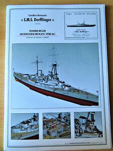 Hamburger Modellbaubogen Verlag - Großer Kreuzer S.M.S.Derfflinger - 1:250
