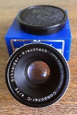 Schneider Componar-C 75mm F4 darkroom enlarger lens boxed