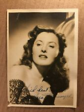 Barbara Stanwyck Early Vintage Autograph Photo 1940s Double Indemnity