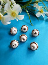 """498b/Lovely Buttons """" Bead 'Orient Heart of Rhinestone """" Set of 6 Buttons"""