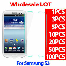 9H Premium Tempered Glass Screen Protector Film For SAMSUNG GALAXY S3 S III LOT