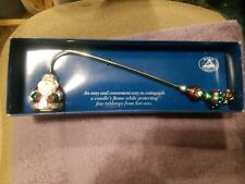 Vintage Boston Warehouse Candle Flame Snuffer Christmas Holiday Santa NIB 2002