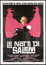 LE NOTTI DI SALEM MANIFESTO TOBE HOOPER HORROR 1979 SALEM'S LOT MOVIE POSTER 4F