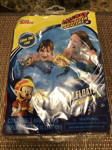 Disney Mickey and Roadster Racers Swimming Pool Inflatable Arm Floats Floaties