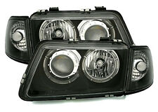 Black clear ANGEL EYES Headlights for Audi A3 8L 96-00 including INDICATORS