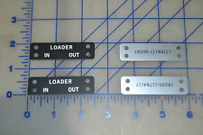 loader in out set of 4 military surplus aluminum plate ID black rat rod