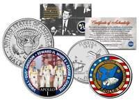 APOLLO 1 SPACE MISSION 2-Coin Set U.S. Quarter & JFK Half Dollar NASA ASTRONAUTS