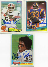 Cleveland Browns Charles White signed 1982 card